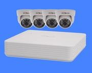 Комплект видеонаблюдения 4 внутренние камеры 2мп