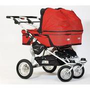 Продаю коляску для двойни TFK Twinner Twist (красного цвета)